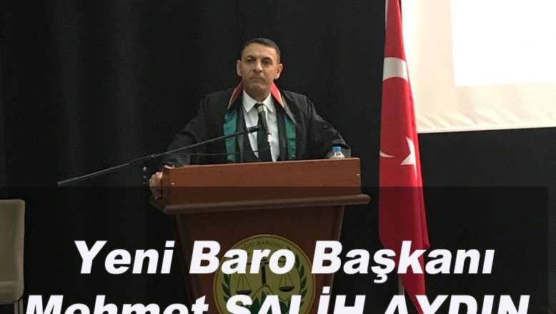 Ağrı Barosu Yeni Başkanı Avukat Mehmet Salih AYDIN