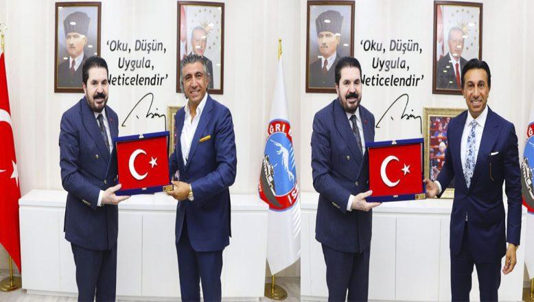 Dossi Dossi Yönetim Kurulu Başkanı Hikmet Eraslan'dan Başkan Savcı Sayan'a makamında ziyaret